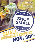 Coupon Offer: Small Business Saturday November 30th!