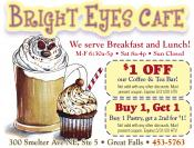 Coupon Offer: $1.00 Off our Coffee & Tea Bar!