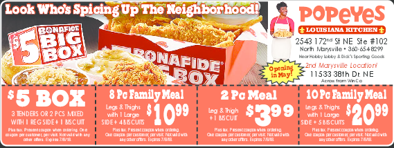 Printable local coupons free restaurant coupons online hometown coupon offer 5 box 3 tenders or 2 pcs mixed with 1 reg side fandeluxe Choice Image