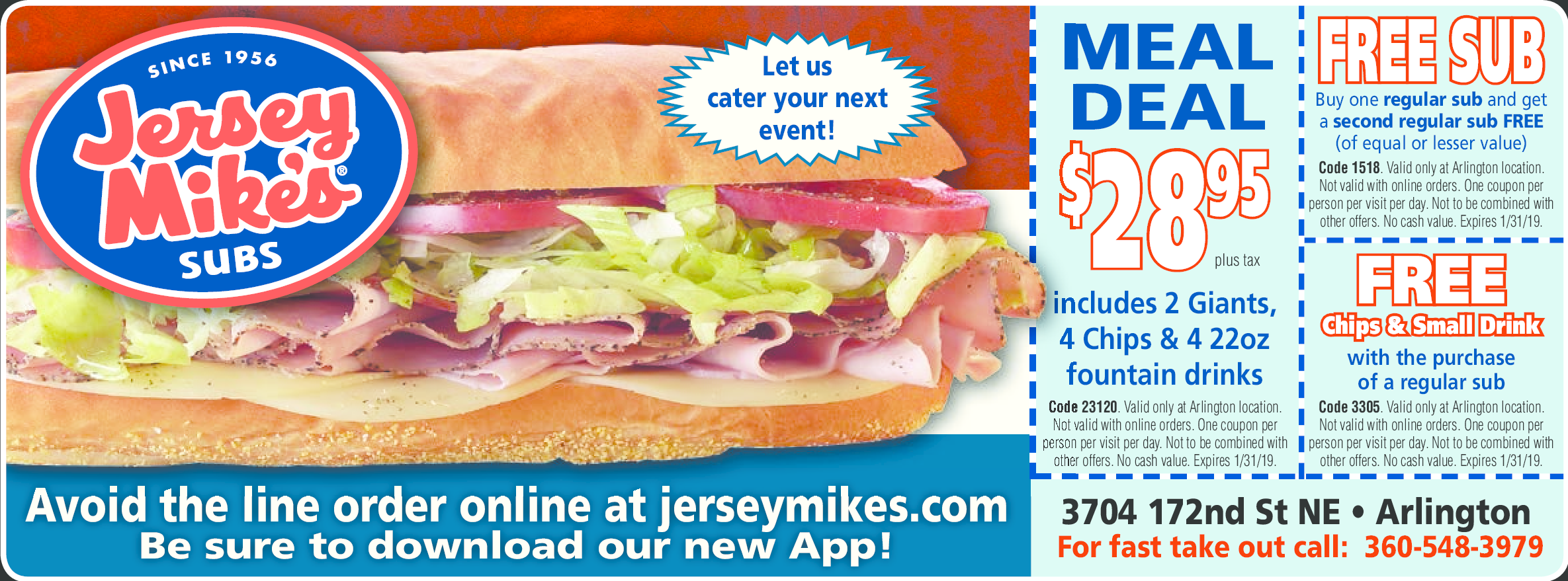 It's just an image of Agile Jersey Mikes Printable Coupons