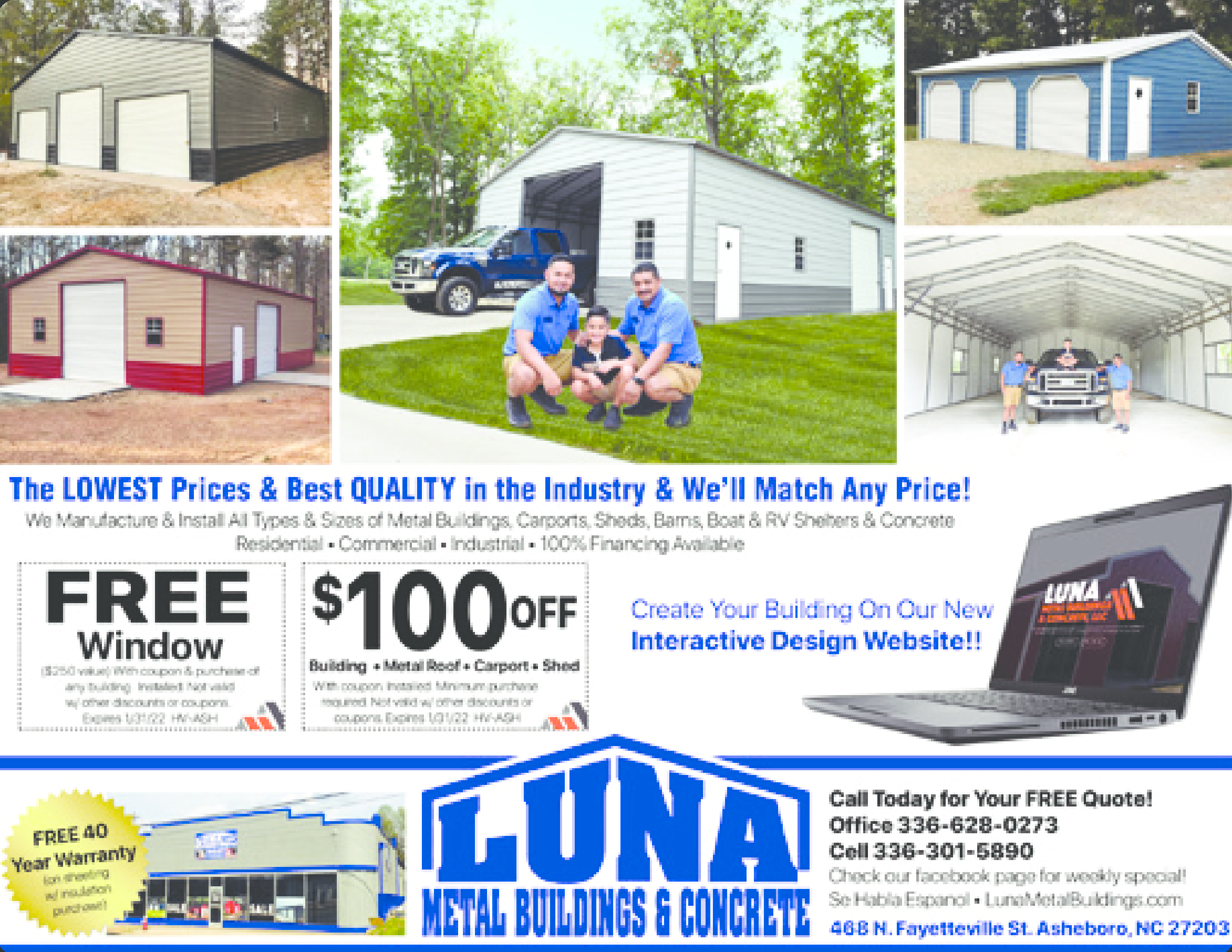 Luna Metal Buildings Concrete Llc Coupons