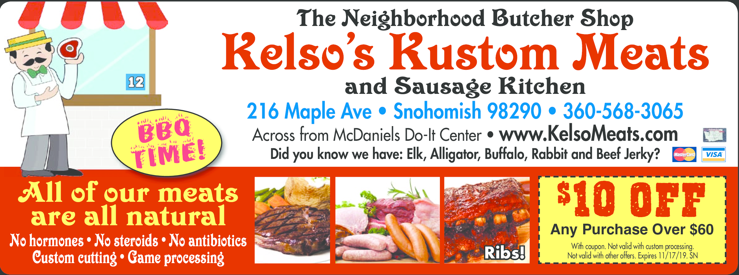 Kelso's Kustom Meats Coupons