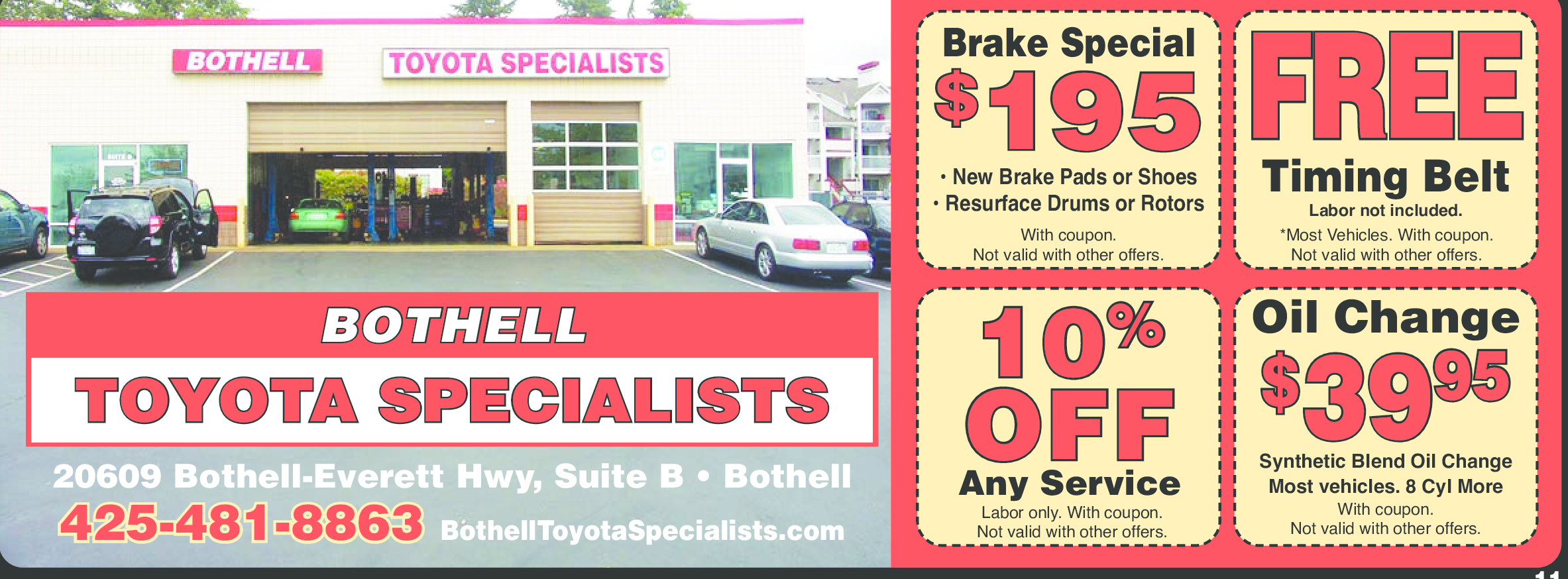 Printable Toyota Oil Change Coupons >> Bothell Toyota Specialists Mill Creek/Silver Lake Coupons