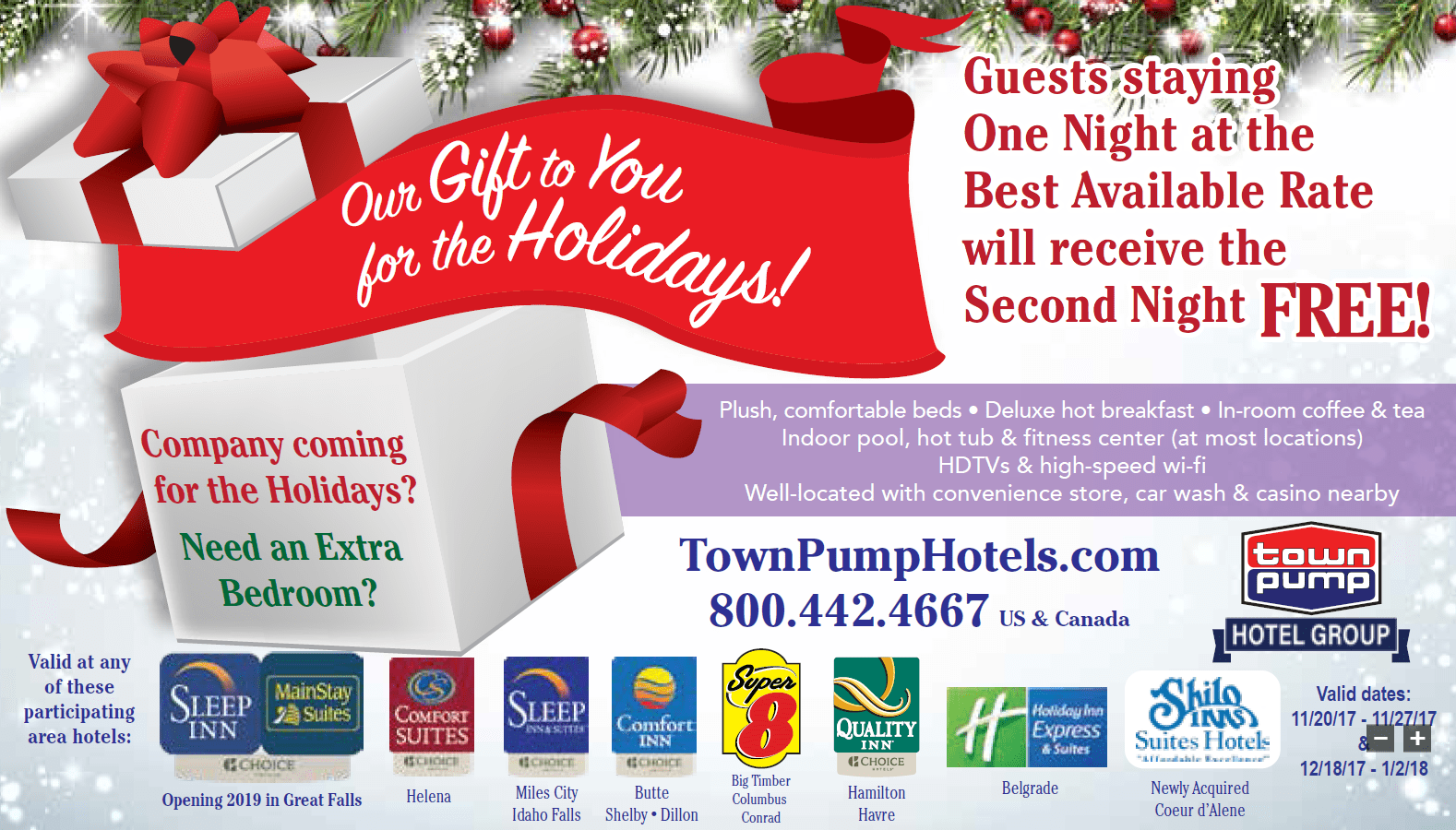 All Town Pump Hotels Coupons 1 View Larger